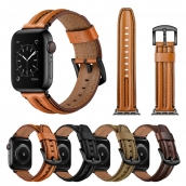 China CBIW221 lederen horlogebandriem voor Apple Watch Series 6 5 4 3 SE-armband fabriek