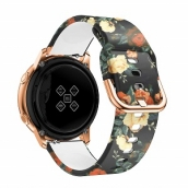 China CBSW54 Pattern Printed Silicone Watch Bands For Samsung Smart Watch factory