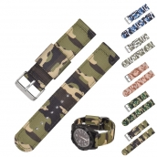 China CBUS102 Fashion Trend Lightweight Breathable 22mm Camouflage Nylon Watch Straps factory