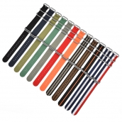 China CBUS105 Wholesale Price Smart Wristwatch Band Nato Nylon Striped Watch Strap 20mm 22mm factory