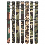 China CBUS106 One Piece Military Army Camouflage Watch Belt Nylon Watch Band  20mm 22mm factory