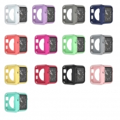La fábrica de China CBWC13 Color Color Color Soft Silicone TPU Caja de parachoque para Apple Watch SE 6 5 4 3 38mm 42mm 40mm 44mm cubierta
