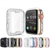 La fábrica de China CBWC7 Soft Clear TPU Pantalla protector de pantalla Funda protectora para Apple Watch Series 6 5 4 3 SE Funda