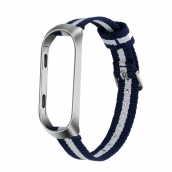 China CBXM350 Custom Striped Nylon Nato Strap For Xiaomi Mi Band 3 2 factory