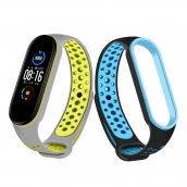 China CBXM518 Mi band 5 Silicone Strap Dual Color Correa Para For Xiaomi Mi Band 5 Fitness Bracelet factory