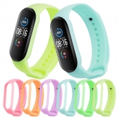China CBXM564 Lichtgevende siliconen polsband voor Xiaomi Mi Band 5 Smart Watch fabriek