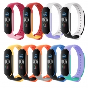 China CBXM567 Wholesale Trending Products Multicolor Silicone Wristband Bracelet Strap Correas Para For Xiaomi Mi Band 5 Smartwatch factory