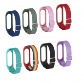 China CBXM569 Adjustable Stretchy Solo Loop Bands Elastic Nylon Wristband Strap For Xiaomi MI Band 6 5 4 3 Smart Watch Bracelet factory