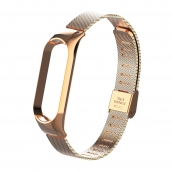 China Mesh Stainless Steel Wrist Watch Strap For Xiaomi Mi Band 5 Miband 5 Metal Strap factory